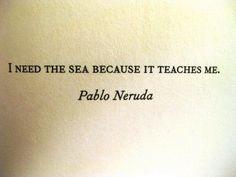 the sea teaches us