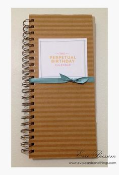 Eva's cards and things Perpetual Calendar by Stampin' Up!