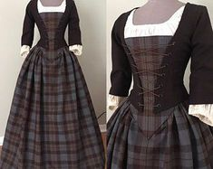 Check out our outlander costume selection for the very best in unique or custom, handmade pieces from our costumes shops. Scottish Dress, Scottish Clothing, Historical Clothing, Historical Costume, Scottish Costume, 18th Century Dress, 18th Century Clothing, 18th Century Fashion, Pretty Outfits