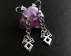 shadowhunters angelic rune earrings - shadowhunter jewelry - gothic jewelry - nu goth