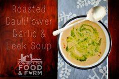Roasted Cauliflower, Leek & Garlic Soup