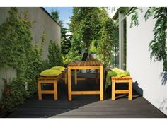 Choosing your outdoor furniture. What are the best options for you? Modern Lounge, Modern Chairs, Wooden Slats, Indoor Outdoor, Outdoor Decor, Led Lampe, Outdoor Settings, Modern Industrial, Pastel Colors