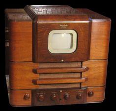 Vintage Television Andrea 1939 Andrea from 1939 Vintage Television, Television Set, Vintage Soul, Vintage Tv, Tvs, Tv Sets, Retro Renovation, Antique Radio, Radios