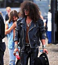 """Slash (Guns N' Roses) Backstage at the Donington Monsters of Rock Festival on August 26th 1995."""