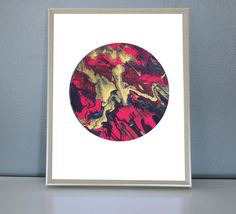 MARS - Red, Black, Gold, Moon/Planet Art Print 8X10, 11X14 by PrettyPaperPlaceShop on Etsy Red Black, Black Gold, Mars, Planets, Art Prints, Unique Jewelry, Frame, Handmade Gifts, Shop