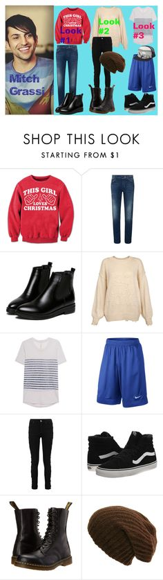 """""""Mitch Grassi"""" by klb12-love on Polyvore featuring WithChic, Wildfox, Raquel Allegra, NIKE, Vans, Dr. Martens and Kavu"""
