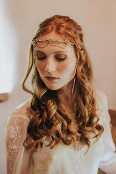 Gorgeous Game of Thrones inspired bridal beauty and headpiece | image by Lianne Gray Photography