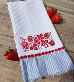 Free project instructions to make an embroidered dish towel