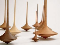Trumpo Spinning Tops by Mader. So elegant.