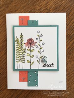 "Laura Milligan, Stampin' Up! Demonstrator - I'd Rather ""Bee"" Stampin!: Stamper's Dozen Blog Hop - Let's Sale-a-brate! SU - Flowering Fields stamp set - SAB"