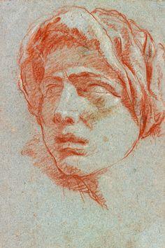 Giovanni Battista Tiepolo | 1696-1770 | Head of a Man Wearing a Turban | The Morgan Library & Museum
