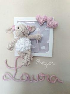 Crochet Sheep, Crochet Box, Crochet Patterns Amigurumi, Cute Crochet, Crochet Animals, Crochet Wall Art, Nursery Accessories, Stuffed Toys Patterns, Baby Patterns