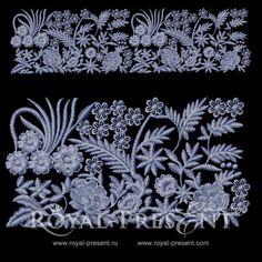 Дизайн машинной вышивки - Элемент для ажурного орнамента #2