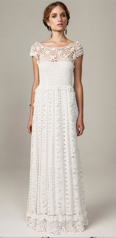 Crochet in white.....