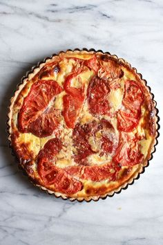 Tomato and Cheddar Tart with a Savory Parmesan Crust — Flourishing Foodie Tart Recipes, Veggie Recipes, Cooking Recipes, Healthy Recipes, Savory Tart, Quiches, Parmesan Crusted, Cheddar, Side Dishes