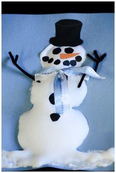 How to make puffy paint snowmen (craft) #winter #crafts @BabyCenter