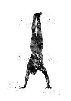 Handstand by Erzebet S Crossfit Wallpaper, Yoga Illustration, Graffiti Wall Art, Whatsapp Wallpaper, Sports Art, Tag Art, Fine Art America, Watercolor Paintings, Art Prints
