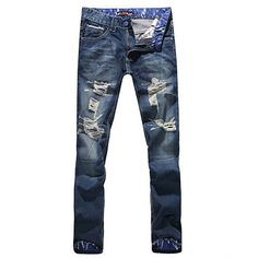 Men's Fashionable Distressed Jeans