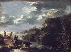 Bandits on a Rocky Coast Salvator Rosa (Italian, Neapolitan, 1615–1673)