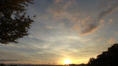 鹿児島市多賀山公園から望む2016年冬至の落陽