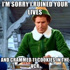 My favorite Christmas quote from the movie Elf. Lol.                                                                                                                                                                                 More
