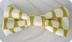 Bowtie for Newborn Infant/Toddler Youth  Mustard and ivory honeycomb bow tie, ring bearer and groomsmen, by NBrynnDesign, $9.95