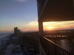 The sun is setting on the first beach day in 2018. Get a front-row seat to stunning sunsets on a #Phoenix West balcony. #BeachCondo #OrangeBeachCondo #BRvacation #BrettRobinson #sunset #beach