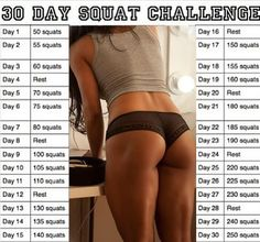 30 Day Squat Challenge - March challenge - use hand weights - take before & after hips & love handles measurements