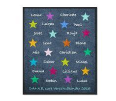 KITAmatte Sterne + Namen