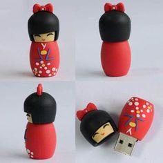 CLÉ KEY USB Kokeshi Poupée Japonaise Flash Drive Flash Laufwer 8GB GO | eBay