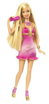 Barbie Loves Hair Doll by Mattel. $18.99. Girls can use the hair-streaking tool to color Barbie doll's hair as well as their own!. Glam is a girl's best friend!. Girls will love giving Barbie her own look!. Features Barbie with a dedicated area of beauty.. Includes hair streaking tool, doll-sized hairbrush, rubber bands and clips.. From the Manufacturer                Barbie Loves Hair Doll: Glam is a girl's best friend! The Barbie Loves Beauty dolls features Barbie with a ded...