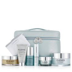 218984 Elemis 6 Piece Pro-Collagen Blockbuster Collection QVC PRICE: £203.00 £168.96 + P&P: £6.95 or 3 Easy Pays of £56.32 +P&P This six-piece Elemis Pro-Collagen Blockbuster Collection features a super size of the bestselling Pro Collagen Marine Cream, plus a Cleansing Balm, Super Serum, Night Cream and more. Designed to help reduce the appearance of fine lines and wrinkles, this Pro Collagen set will help give your skin a youthful glow.