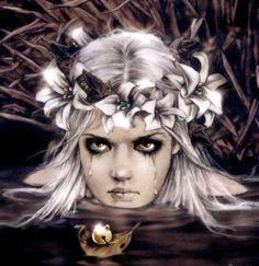 Victoria Frances - Stone Tears - Virgins Of The Lake 5 Gothic Vampire, Vampire Art, Boris Vallejo, Dark Fantasy Art, Dark Art, Amazing Drawings, Amazing Art, Vampires, Mermaid Man