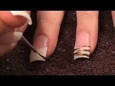 nail art - acrilico con decorazione