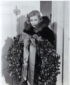1930's Lucille Ball with a Holiday Wreath. by Lucy_Fan, Flickr