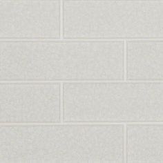 Frosted Icicle Glass Subway Tile 3x9