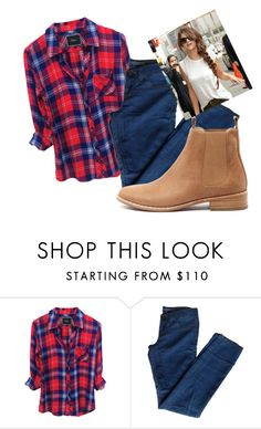 """"""":)"""" by madihahnas ❤ liked on Polyvore featuring J Brand and Mollini"""