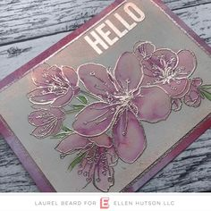 A Pink Champagne Hello - Simply Cardmaking with Laurel Beard Altenew Cards, Stampin Up Cards, Happy Birthday Bouquet, Embossed Cards, Beautiful Handmade Cards, Friendship Cards, Pink Champagne, Watercolor Cards, Flower Cards