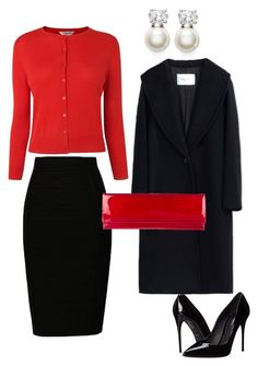 Black&Red by marina-de-luca on Polyvore featuring polyvore fashion style L.K.Bennett MaxMara Dolce&Gabbana Stuart Weitzman Judith Jack clothing