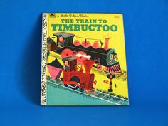 The Train to Timbuctoo Story Book - Little Golden Books - Retro Vintage Children TV Cartoon Hardcover by FunkyKoala on Etsy Little Golden Books, Cartoon Tv, Great Stories, Vintage Children, Good Books, Retro Vintage, Train, Illustration, Etsy