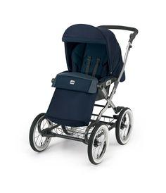 Cam Kinderwagen Linea Classy Tris blue by CAMSPA Italy für Baby und Kind, Retro Style