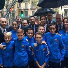 #Iniesta and Sergi #Roberto at tribute to freedom fighter Casanova on Catalan National Day today by fc_barca1899
