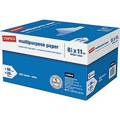 Case of Staples Paper : $14.99 AR + Free S/H (reg. $53.99)  http://www.mybargainbuddy.com/case-of-staples-paper-9-99-ar-free-sh