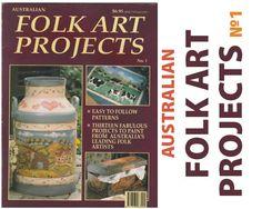 Australian Folk art projects First Issue  #1 1995 SC 1985 vintage craft magazine by vitbich on Etsy