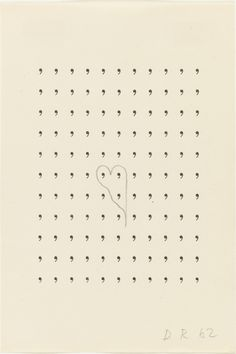 Dieter Roth. Stupidogramm (Stupidogram). 1962 | MoMA Dieter Roth, Conceptual Drawing, Film Studies, Film Stills, Moma, Art Google, Installation Art, Drawings, Prints
