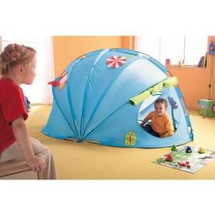 Haba - Play Tent Flower Igloo This is such a great indoor cubby, lots of fun for rainy days Wooden Baby Toys, Natural Toys, Fairy Dolls, Cubbies, Play Houses, Doll Toys, Outdoor Gear, Baby Gifts, Tent