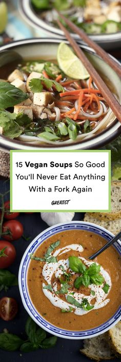 There may be magic in these bowls—but there's definitely no meat.  #greatist https://greatist.com/eat/vegan-soup-recipes