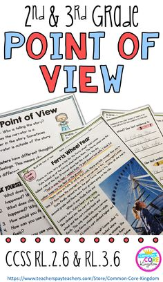 Are you looking for a way to teach your second and third graders about point of view? This packet of reading comprehension passages will help your and graders master Common Core Standard and Reading Comprehension Passages, Reading Strategies, Reading Skills, Guided Reading, Reading Resources, Teaching Reading, Reading Fluency, Guided Math, Close Reading