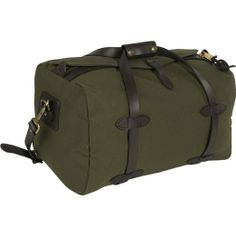 Filson canvas and leather duffle bag