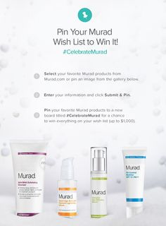 Pin your Murad wish list to win it! Click through to see how you can enter to win your entire Murad product wish list. #CelebrateMurad #CelebrateMurad Contest: